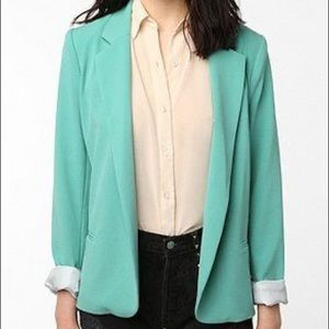 Silence and Noise Teal Blazer